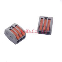 тип компании WAGO 222-413 универсальный компактный провода подключения разъем 3-контактный дирижер клеммный блок с рычагом AWG кабель 28-12