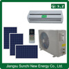 Low price high efficiency 90% split wall type 9000btu 12000btu solar hybrid air conditioner