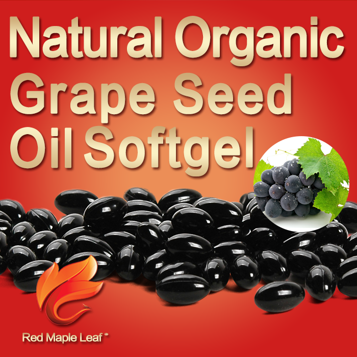 100% Natural Antiaging Grape Seed Extract 1000mg Softgels
