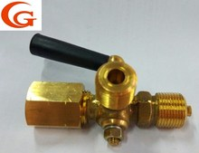 brass three way cock valve gauge cock 1/2''-1'' accept oem
