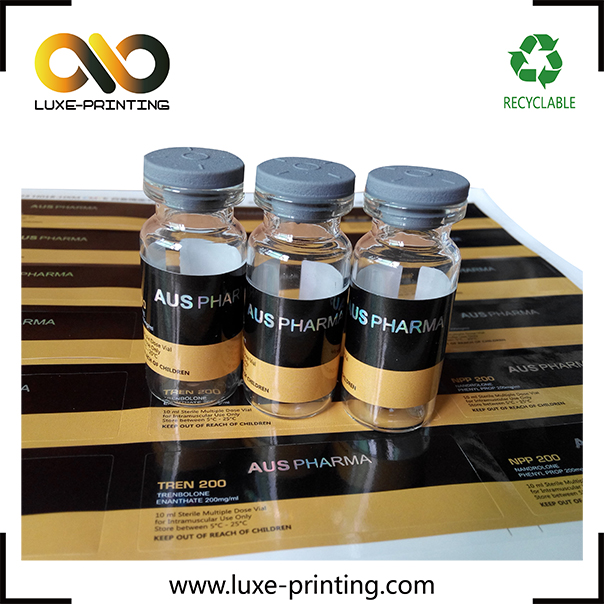 Factory price best quality printing 10ml vial steroid <strong>labels</strong>
