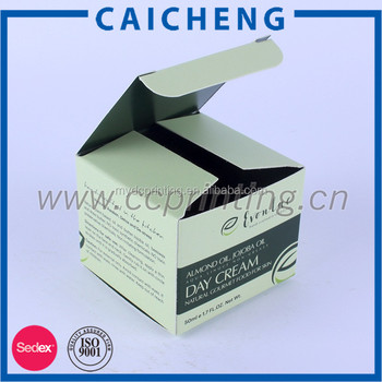 Small Face Cream Packaging Paper Box