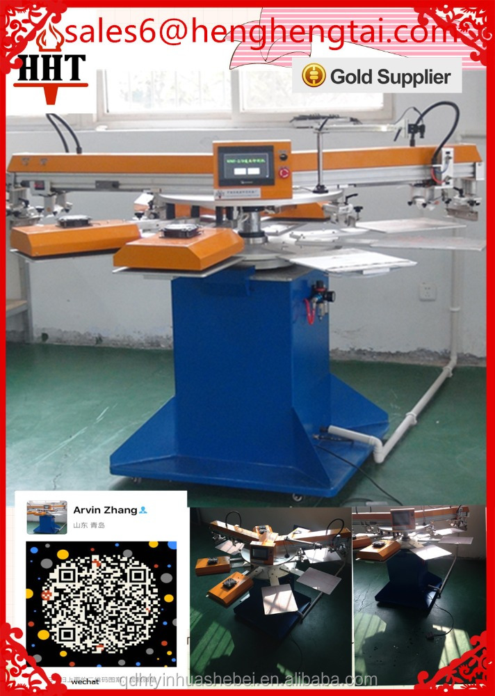 Rotary 2 colors Automatic Label Silk Screen Printing Machine For Sale