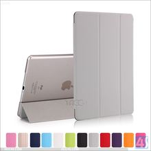 Factory New Products Combo PC Clear Transparent PU Leather Smart Cover Case for iPad Air 2 Made in China