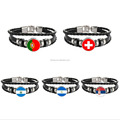 2018 Russia World Cup Theme Souvenir Adjustable Bracelets-Bangles Fashion Jewelry Sporty Snap Button Leather Bracelet