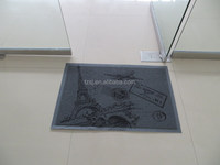 pvc customized loop mat anti-slip floor mat with beautiful designs/door mat with printing