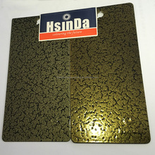 Customized Antique Gold Copper Crackle Vein Texture Powder Coating