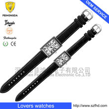 good qualiy leather starp with japan moment only into lovers watches woman or men