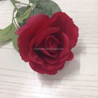 "4"" High quality single latex real touch big red rose flower,cheap artificial red rose flower"