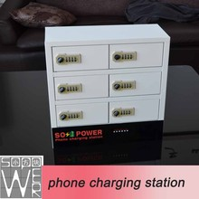 2015 new arrival smart locker phone charging station mid tablet pc 9v charger