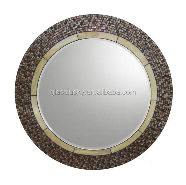 Mirror glass wholesale with mosaic and wooden almirah designs with mirror