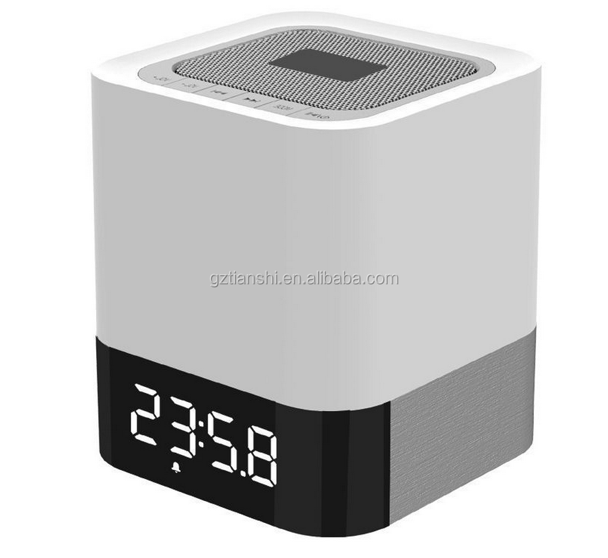 All-in-one Bluetooth Speaker with Multicolor Night Light Lamp, Alarm Clock, Hands-free Calls,MP3 Player Function