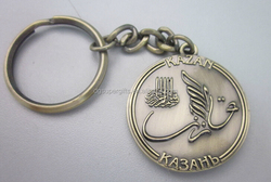 Antique plating metal material key rings / promotional key chains