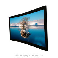 High Resolution 120'' 2.35:1 Curved Projector Screen,Low Cinema Screen Price