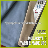 100% Mod Acrylic fabric airline blankets fabric far 25.853 Airline blanket fire restardant