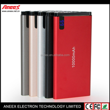 Light & Thin Power Bank with Li Polymer Battery and 3 USB Ports Safe Fast Charger
