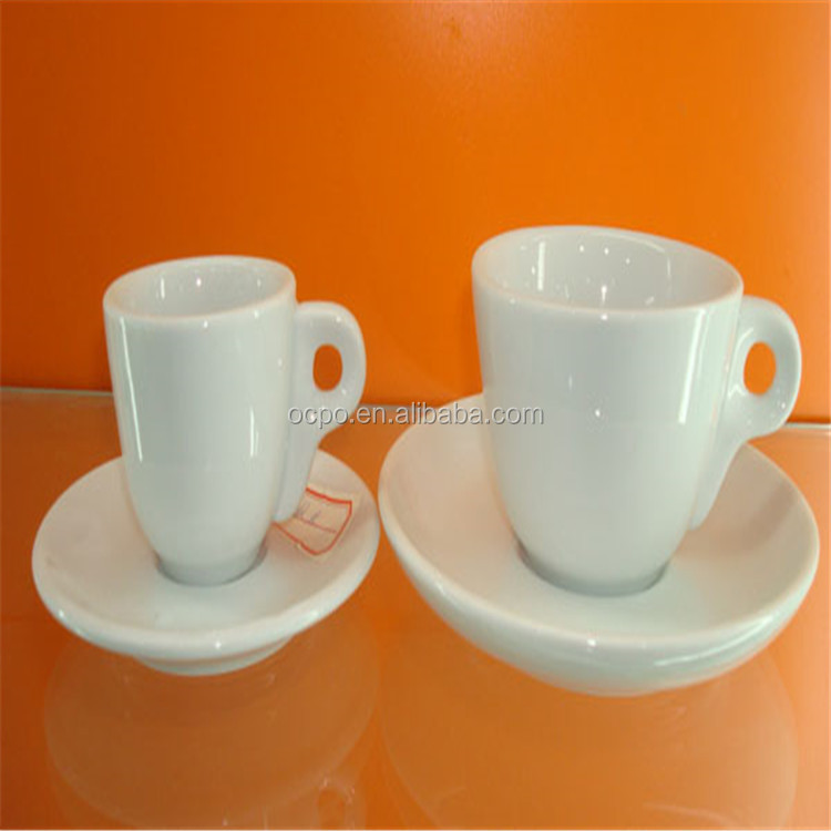 custom plain white coffee cups and saucers wholesale