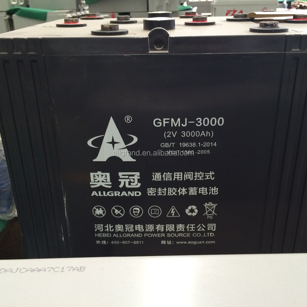 2v 3000ah high quality Deep cycle lead acid gel Battery Sealed high rechargeable Solar /wind/ups /home system battery