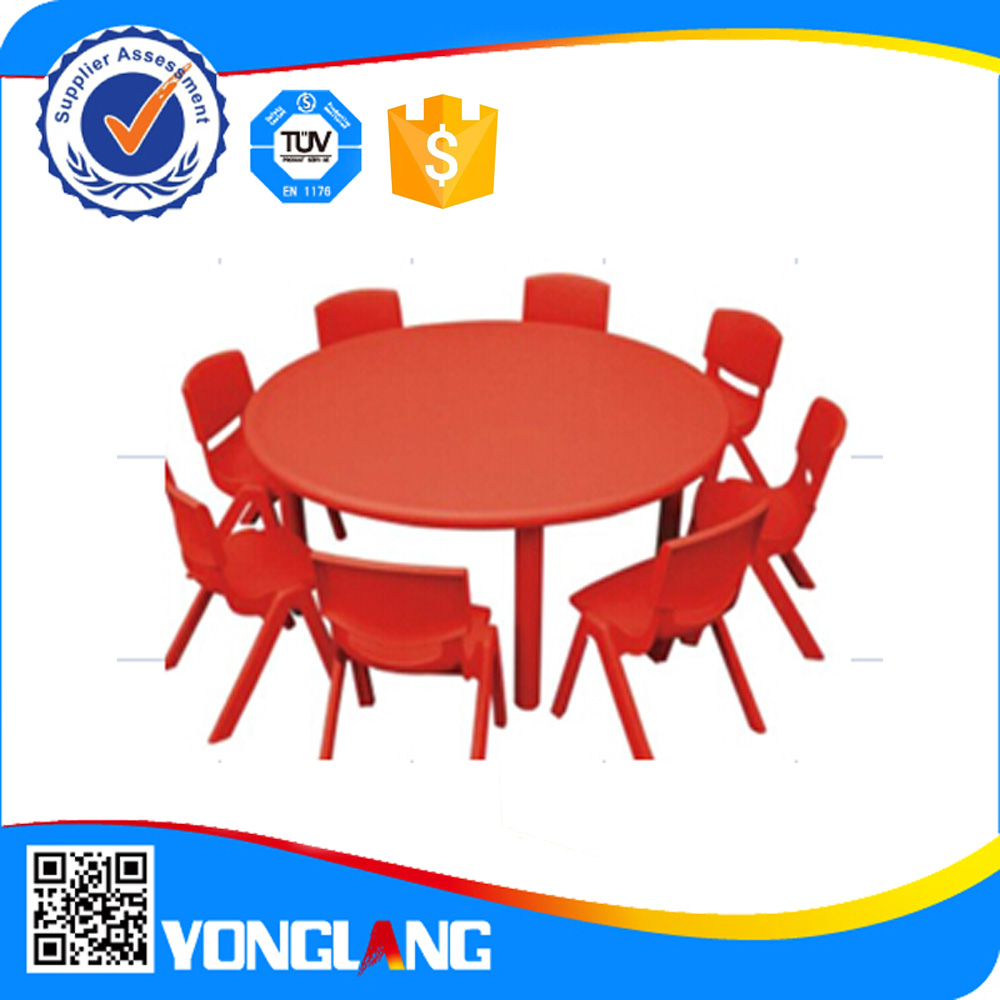 2015 Plastic round preschool&house baby table for sale (YL 6104)