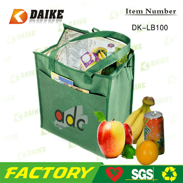 Professional Custom Hot Popular Washable Green Lunch Bags