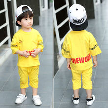 new 2018 kids summer clothing sets Fashion Printed alphabet Children Clothing