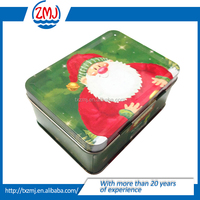 Christmas lunch box Quadrate lunch box/Lunch tin box with handle and lock