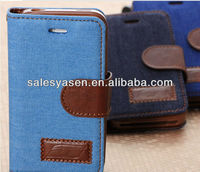 Hot selling women wallet leather case for iphone 5 with card slots