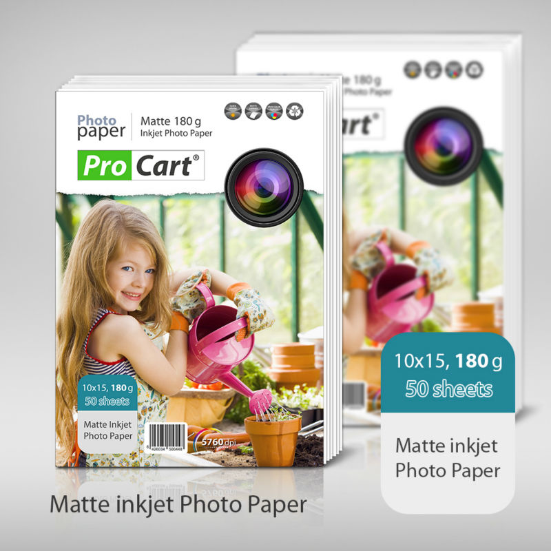180g Matte 10 x 15 inkjet photo paper