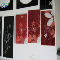 Room partition of modern art, sliding glass door, the high quality silk screen printing glass supply