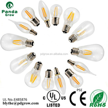 c35 4w dimmable filament led bulb candle lamp e12/e14 candelabra 2w/3w/4w/6w UL PSE electric filament lamps