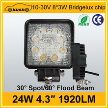 CE,ROHS Certification waterproof 24w auto led working light