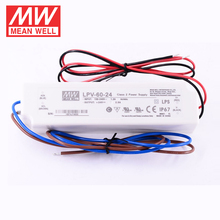 UL&CE approved mean well 60w 12v 5a led driver 50w with IP67 waterproof LPV-60-24