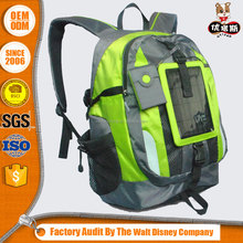 600-denier polyester solar backpack bag with solar bank power