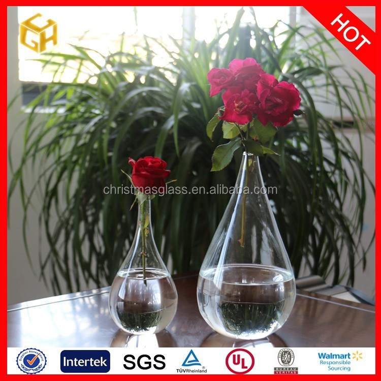 Wholesale 2015 hot products clear mercury square glass vase