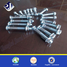 Zinc plated fishtail bolt fishtail bolt and nut button head bolt