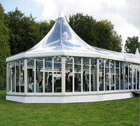 Guangzhou pogada wedding glass tent transparent Clear span tent