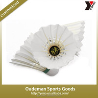 HOT Sale duck broad feather training badminton shuttlecock 2015