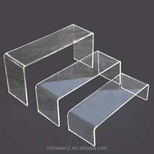 wholesale custom free standing acrylic shelves