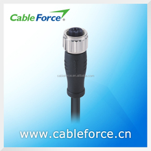IEC 61076-2-101 4A 250V M12 4 pin female D Coding sensor connector Straight Molded Cable plug connector