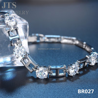 JTS Brand New Letter H Bracelet CZ Jewelry 18K White Gold Cuff Bracelets Bangles Charming Engagement Jewellery BR027