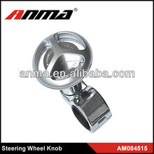 Popular design ANMA stainless steel truck steering wheel knob