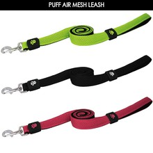 High Quality Air Mesh retractable leash with Polyester webbing Padded dog collar