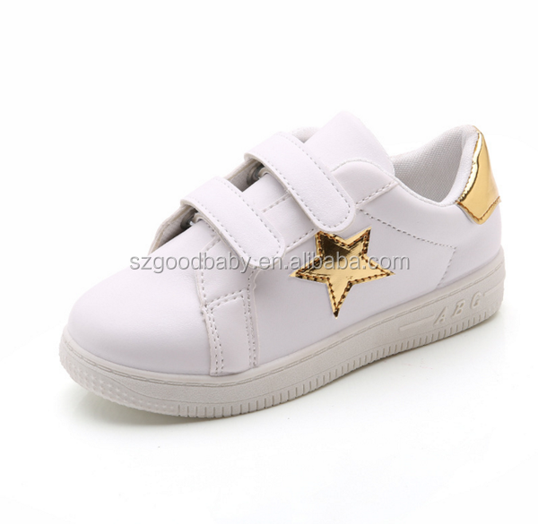 Wholesale Custom Sneaker Casual Style Kids Leather Sneakers Shoes