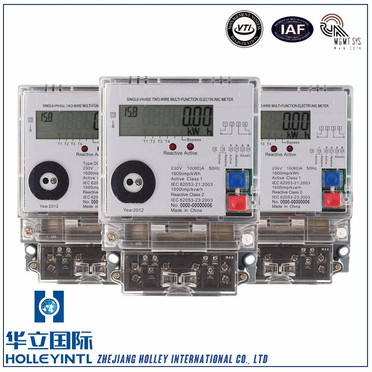 Convenient Installation Overload Detection Modular Single Phase Energy Meter