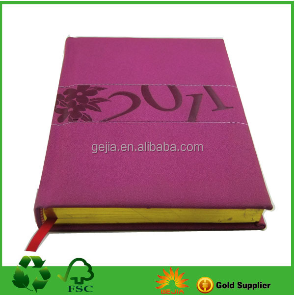 High Quality The Gold France Custom Leather Cover Notebook
