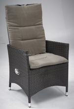 Outdoor furniture adjustable high back rattan chair