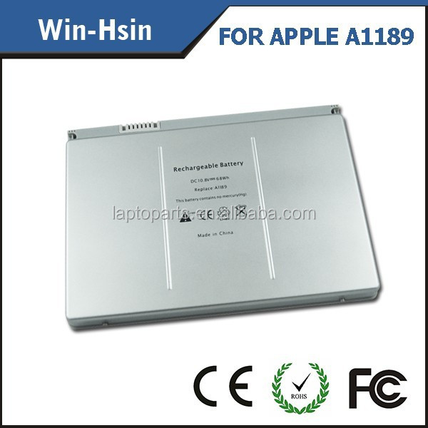"For macbook pro battery , laptop battery for Apple Pro 17"" , battery manufacturer for Apple A1189"