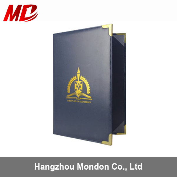 Promotional logo custom pu university original degree certificate of honor