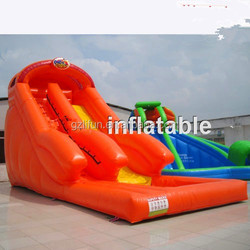 palm trees stream slide/ inflatable slide forest theme