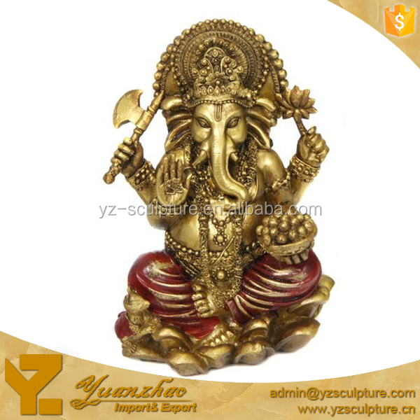 Brass Life Size Outdoor Hindu God Ganesh Statues for Sale